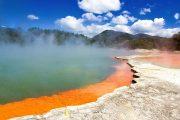 Geyser lake Rotorua New Zealand