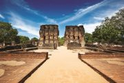 sri lanka, ancient royal palace ruins. pollonaruwa